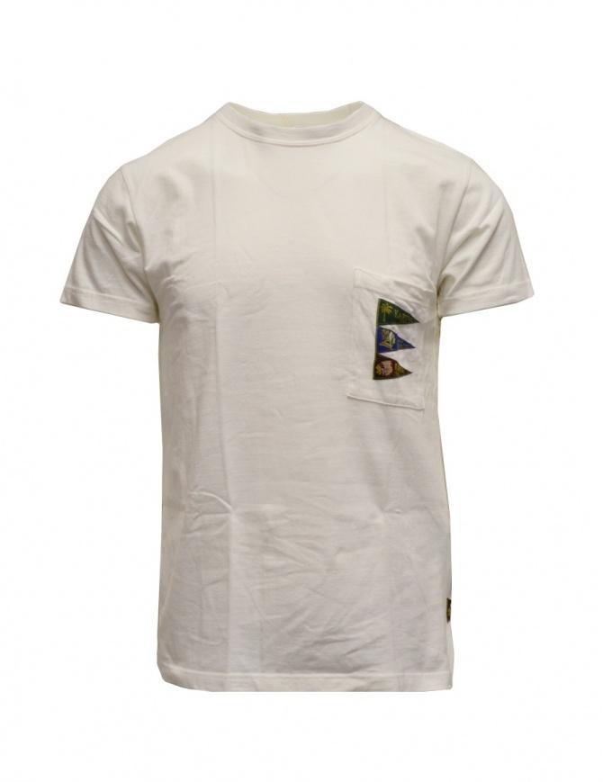 Kapital T-shirt bianca con taschino e bandiere K2003SC042 WHITE t shirt uomo online shopping