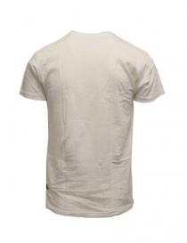 Kapital T-shirt bianca con taschino e bandiere