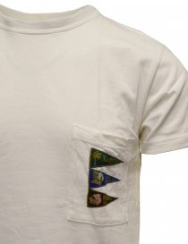 Kapital T-shirt bianca con taschino e bandiere prezzo