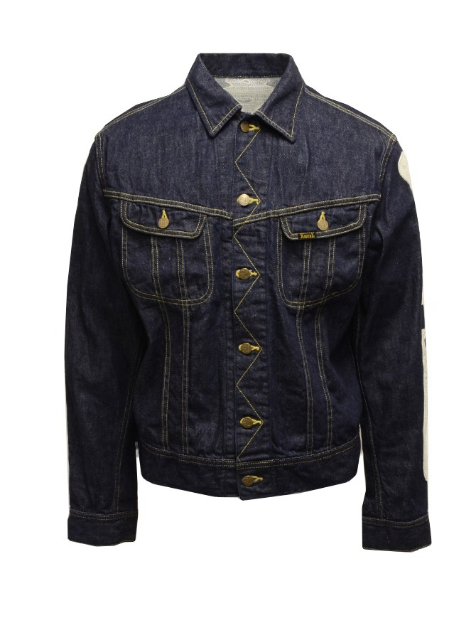Kapital denim jacket with embroidered skeleton K2003LJ044 IDG mens jackets online shopping