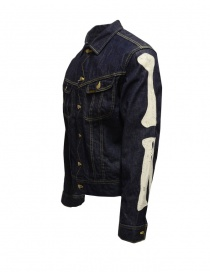 Kapital denim jacket with embroidered skeleton