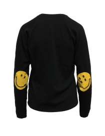 Kapital black shirt with smiley patches on the elbows