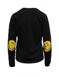 Kapital maglia nera con toppe a smile sui gomiti
