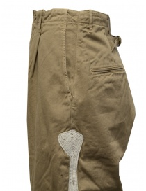 Kapital beige trousers with bones embroidered on the sides mens trousers buy online