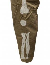 Kapital beige trousers with bones embroidered on the sides mens trousers price