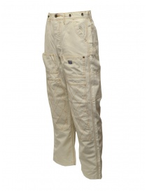 Kapital white multi-pocket pants