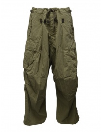 Mens trousers online: Kapital khaki green jumbo cargo pants