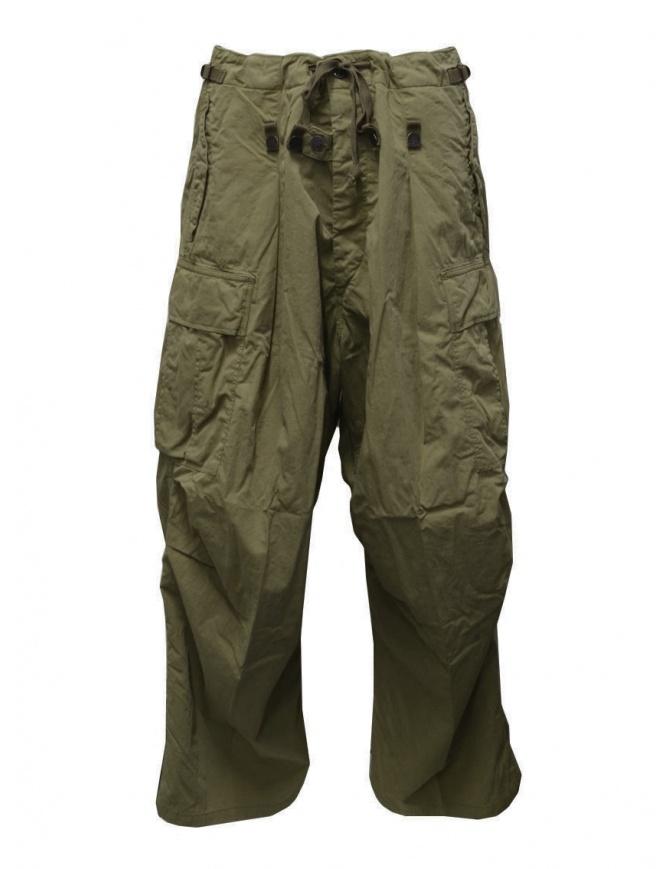 Kapital khaki green jumbo cargo pants EK-624 KHAKI mens trousers online shopping