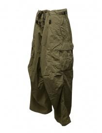 Kapital khaki green jumbo cargo pants