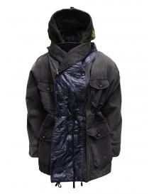 Kapital black multi-pocket ring coat K1911LJ165 BLK order online