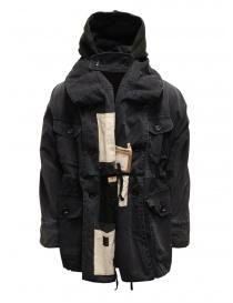Kapital black multi-pocket ring coat