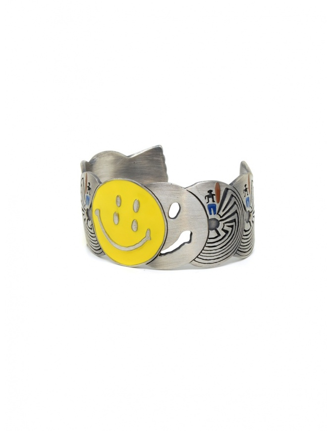 Kapital brass bracelet with smile and labyrinths K2003XG516 SLV jewels online shopping