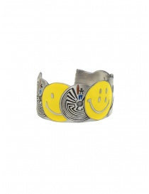Kapital bracciale in ottone con smile e labirinti