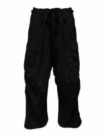 Mens trousers online: Kapital black Jumbo cargo pants