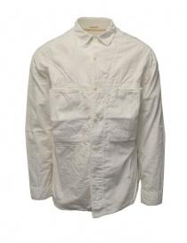Kapital white cotton shirt three front pockets EK-739 WHITE order online