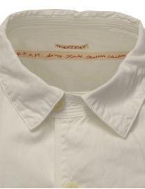 Kapital camicia bianca in cotone tre tasche frontali