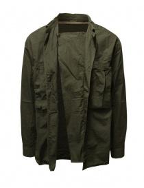 Kapital camicia khaki con tre tasche frontali