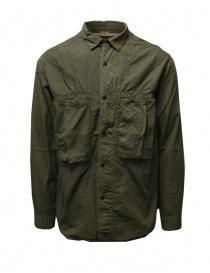 Kapital camicia khaki con tre tasche frontali online