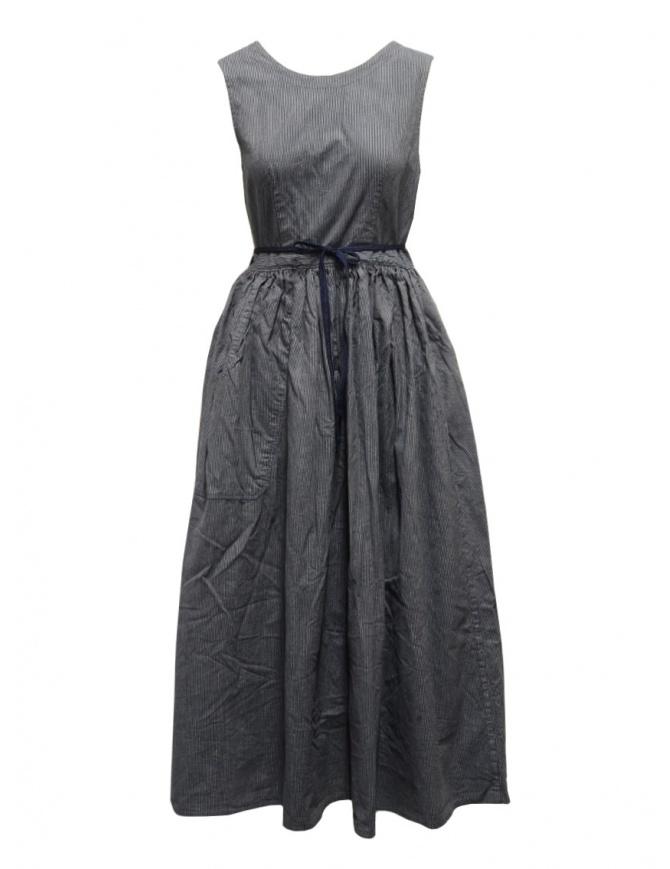 Kapital apron dress in pinstripe denim K2009OP029 IDG womens dresses online shopping