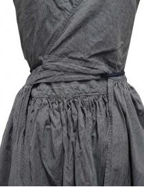 Kapital apron dress in pinstripe denim womens dresses buy online
