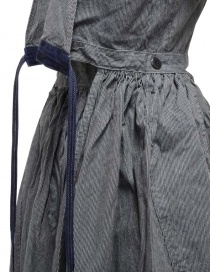 Kapital apron dress in pinstripe denim womens dresses price