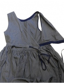 Kapital apron dress in pinstripe denim buy online price