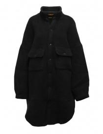 Kapital cappotto a camicia in lana nera online