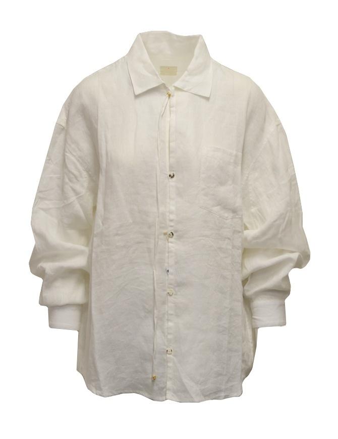 Kapital white shirt embroidered in linen K2009LS002 WHITE womens shirts online shopping