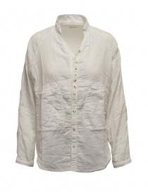 Camicie donna online: Kapital camicia bianca bordi sdruciti