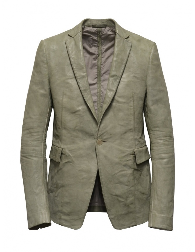 Carol Christian Poell suit jacket in grey kangaroo leather LM/2640P LM/2640P ROOMS-PTC/33 mens suit jackets online shopping