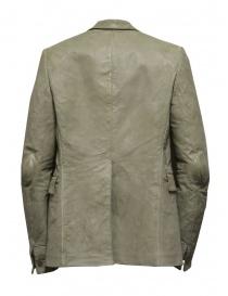 Carol Christian Poell giacca in pelle di canguro grigia LM/2640P