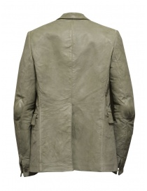 Carol Christian Poell suit jacket in grey kangaroo leather LM/2640P