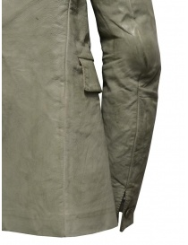 Carol Christian Poell suit jacket in grey kangaroo leather LM/2640P mens suit jackets buy online