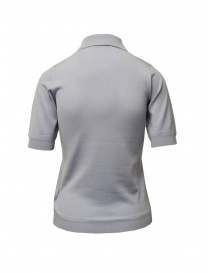 Goes Botanical polo shirt in light blue Merino wool buy online