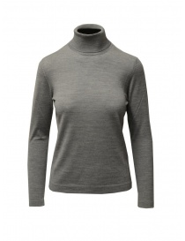 Goes Botanical grey turtleneck sweater in merino wool online