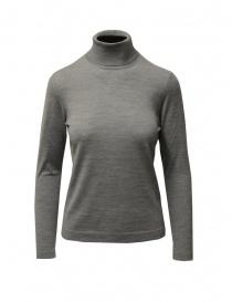 Maglieria donna online: Goes Botanical maglia dolcevita grigio in lana merino