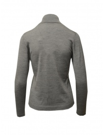 Goes Botanical grey turtleneck sweater in merino wool