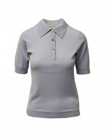 Goes Botanical polo shirt in light blue Merino wool 139D 4356 AZZURRO