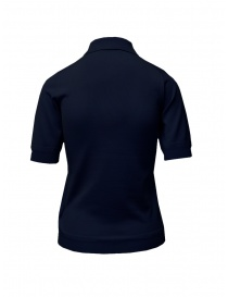 Goes Botanical polo shirt in blue Merino wool