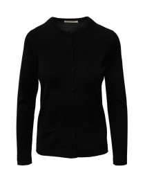 Goes Botanical black cardigan in Merino wool online