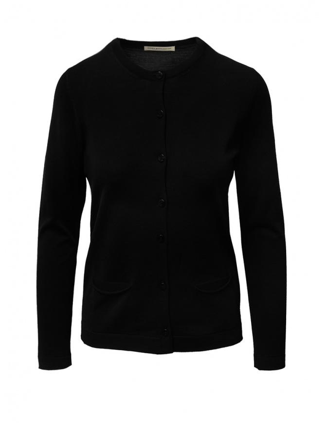 Goes Botanical black cardigan in Merino wool 136D NERO womens cardigans online shopping