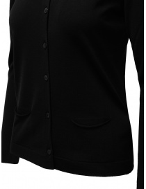 Goes Botanical black cardigan in Merino wool
