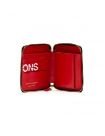 Comme des Garçons red leather wallet with logo buy online