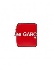 Comme des Garçons portafoglio in pelle rossa con logo prezzo