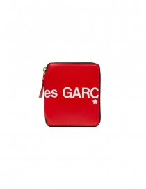 Comme des Garçons red leather wallet with logo price