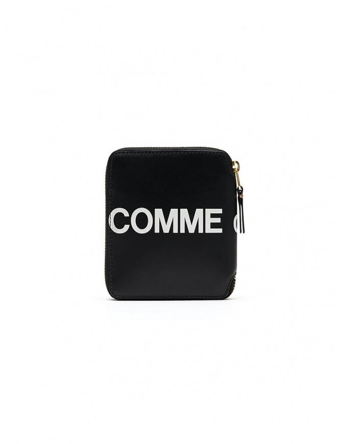 Comme des Garçons black compact wallet with logo SA2100HL HUGE LOGO BLACK wallets online shopping