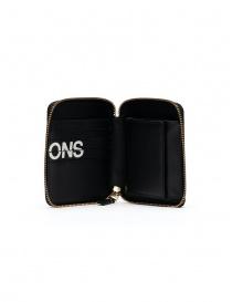 Comme des Garçons black compact wallet with logo