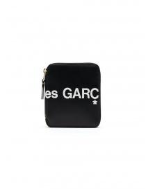 Comme des Garçons portafoglio compatto nero con logo prezzo