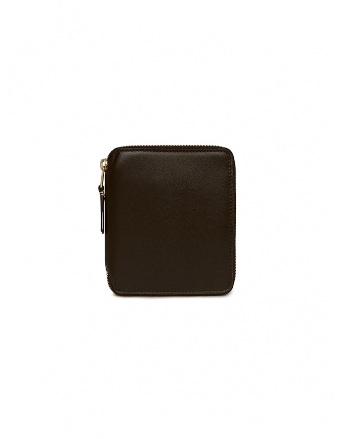 Comme des Garçons wallet in brown leather SA2100 BROWN wallets online shopping