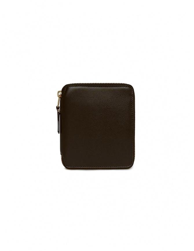 Comme des Garçons portafoglio in pelle marrone SA2100 BROWN portafogli online shopping